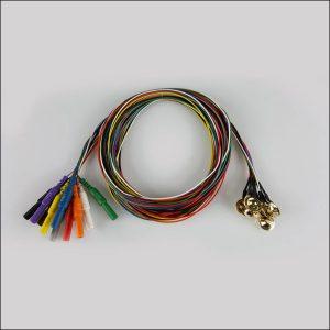 Gold EEG Cup Elektroden Teflonkabel