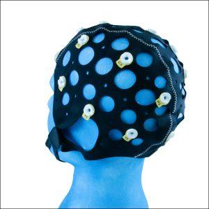 EEG Haube Multi, in Kombination mit Gold Cup Elektroden