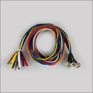 Silber EEG Cup Elektroden Silikonkabel