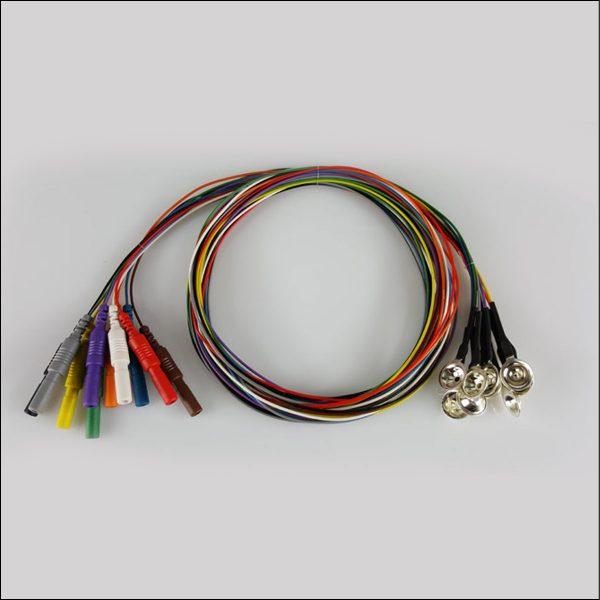 Silber EEG Cup Elektroden Teflonkabel