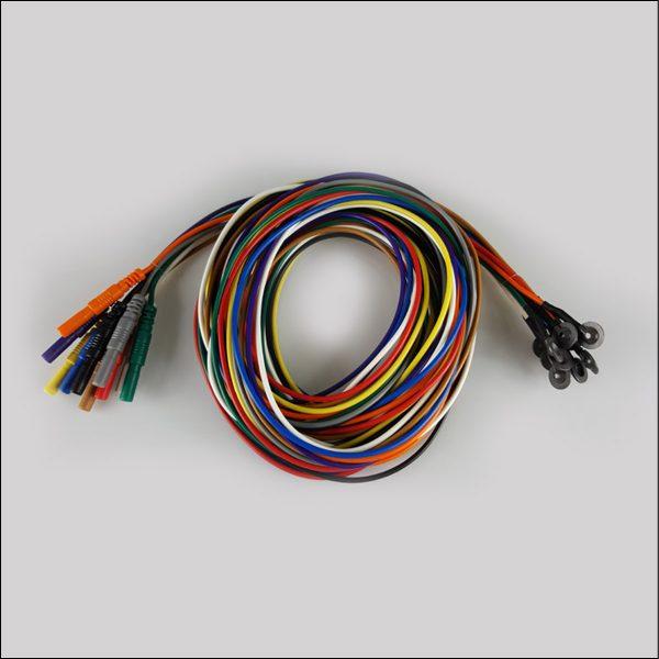 Silber-Silberchlorid EEG Cup Elektroden mit Silikonkabel