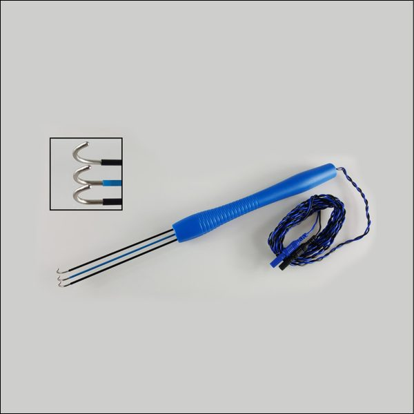 Disposable Triple Hook Nerve Stimulator Probe for IONM